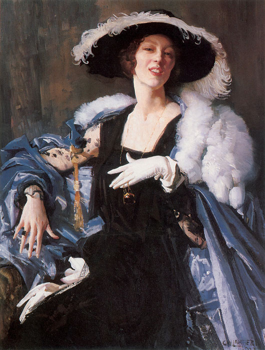 Paintings Reproductions Lambert, George The White Glove, 1921