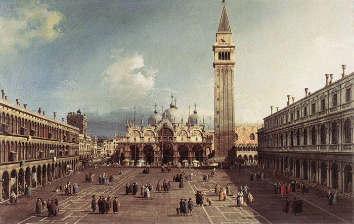 Piazza San Marco with the Basilica, 1730