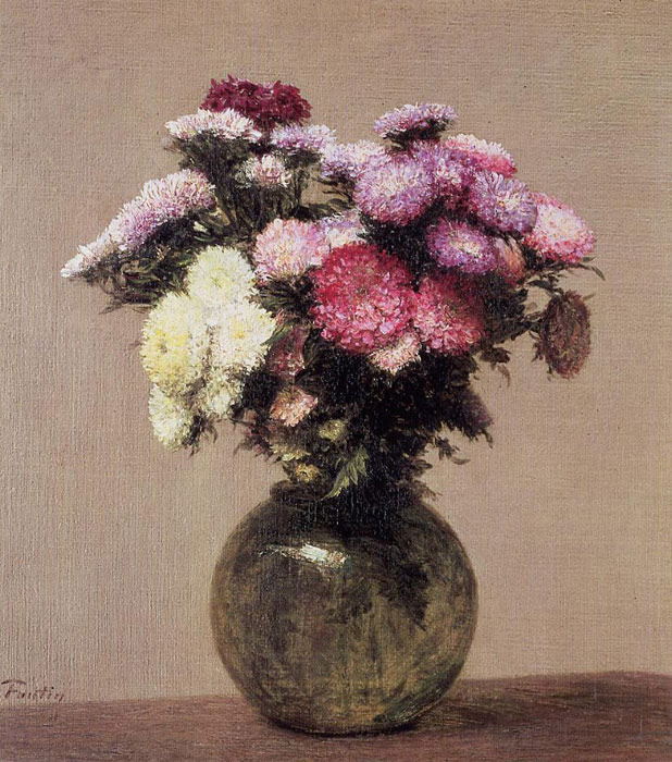 Paintings Reproductions Fantin-Latour, Ignace-Henri- Theodore Daisies, 1872