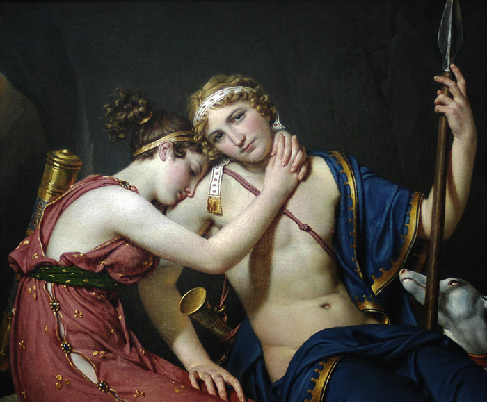 Paintings Reproductions David, Jacques -Louis The Farewell of  Telemachus and Eucharis