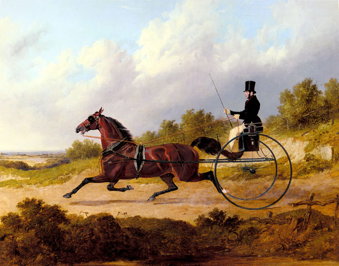 John Frederick Herring Paintings-The Famous Trotter Confidence Drawing ...