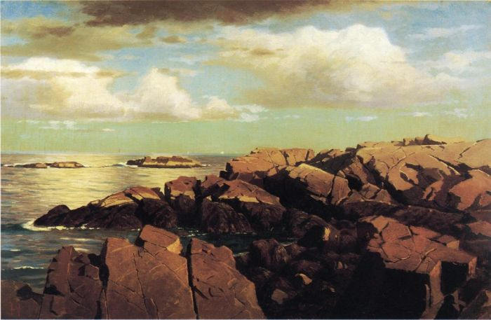 Paintings Reproductions Haseltine, William Stanley After a Shower, Nahant, Massachusetts, 1864