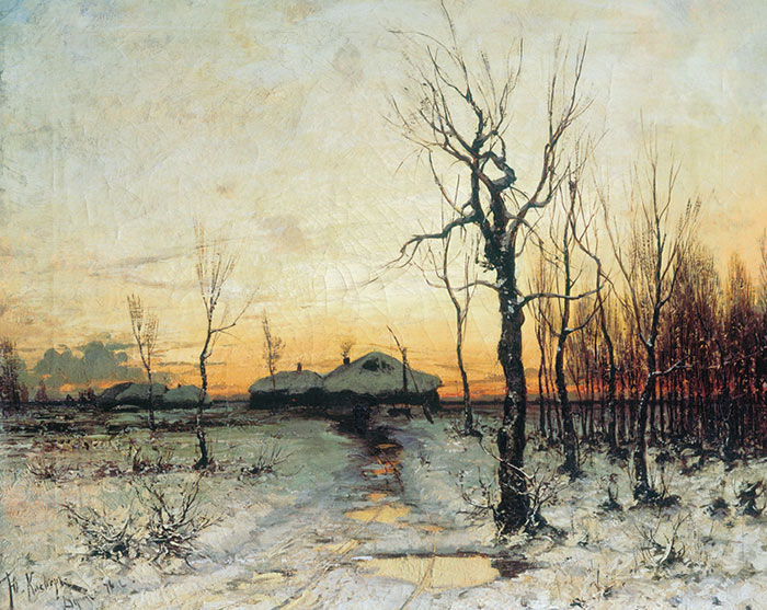 Paintings Reproductions Klever, Yuliy Yulevich (Julius) Winter Landscape, 1876