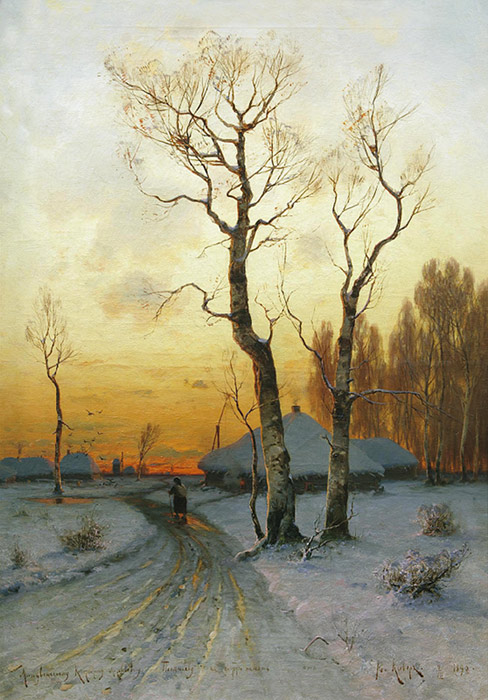 Paintings Reproductions Klever, Yuliy Yulevich (Julius) Winter Landscape, 1890