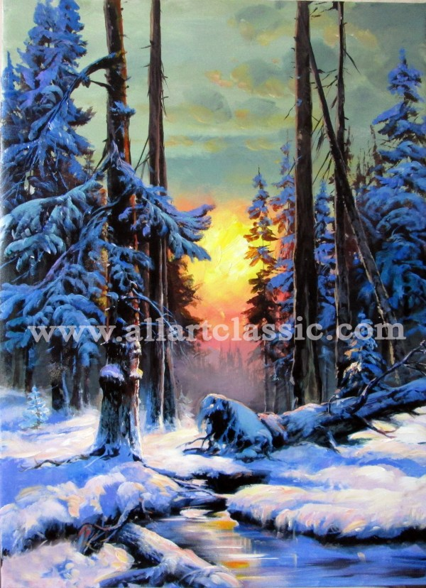 Winter Woods Painting