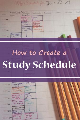 How to create study schedule