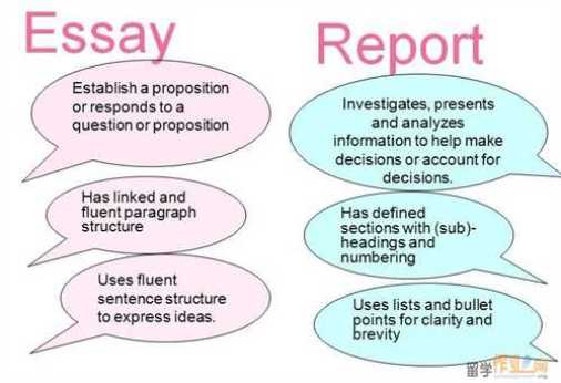 difference between essay and report writing essay report