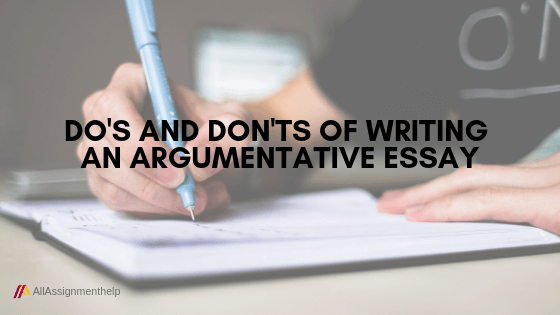 Assistance with writing an argumentative