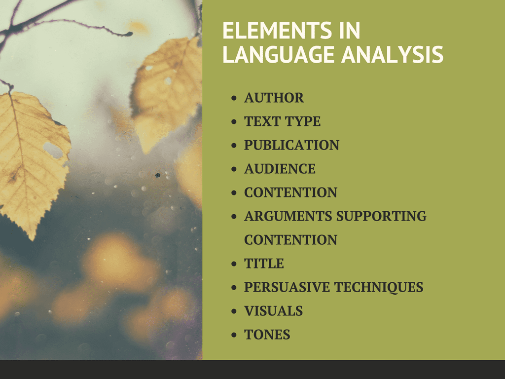 language analysis tips