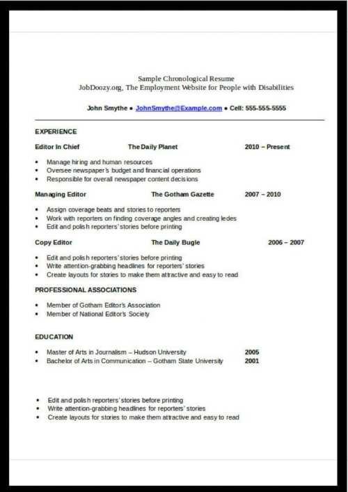 chronological-resume-format