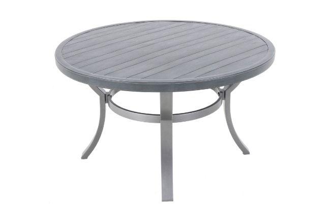 portica 38 round wood grain coffee table