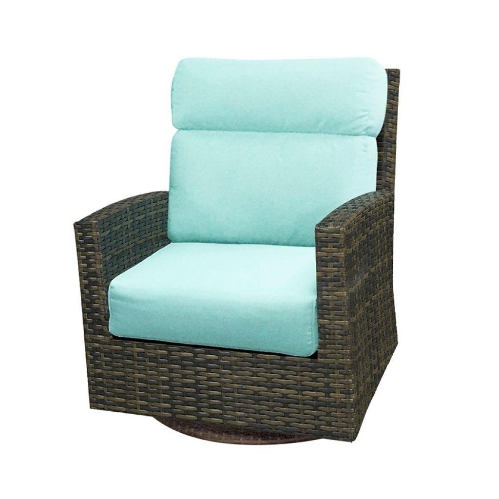 Lakeside High Back Swivel Rocker Wicker Outdoor Furniture All Backyard Fun