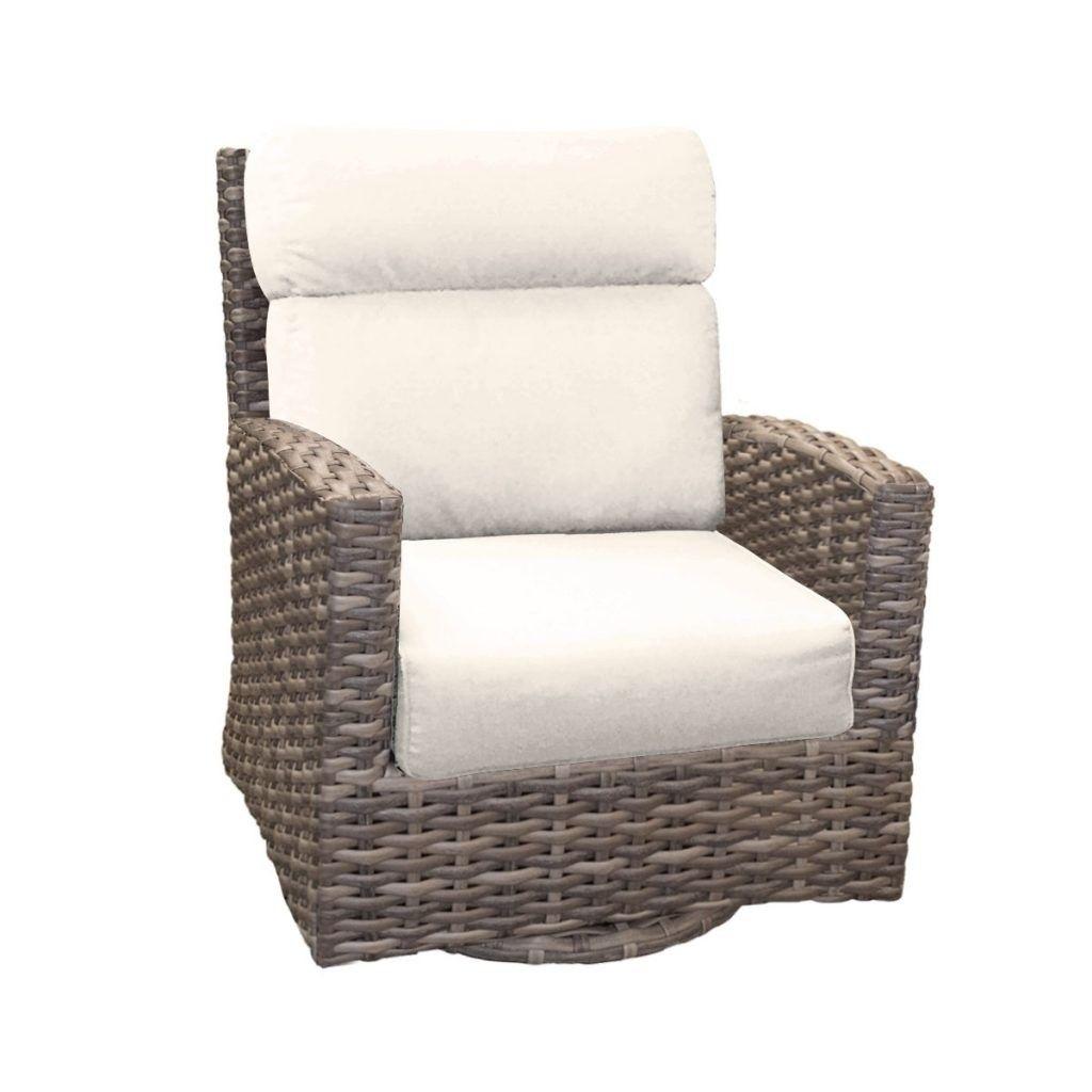 Customizable Wicker High Back Swivel Glider Wicker Outdoor Swivel Glider Chair
