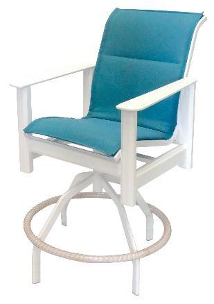 hampton sling swivel bar chair by windward design