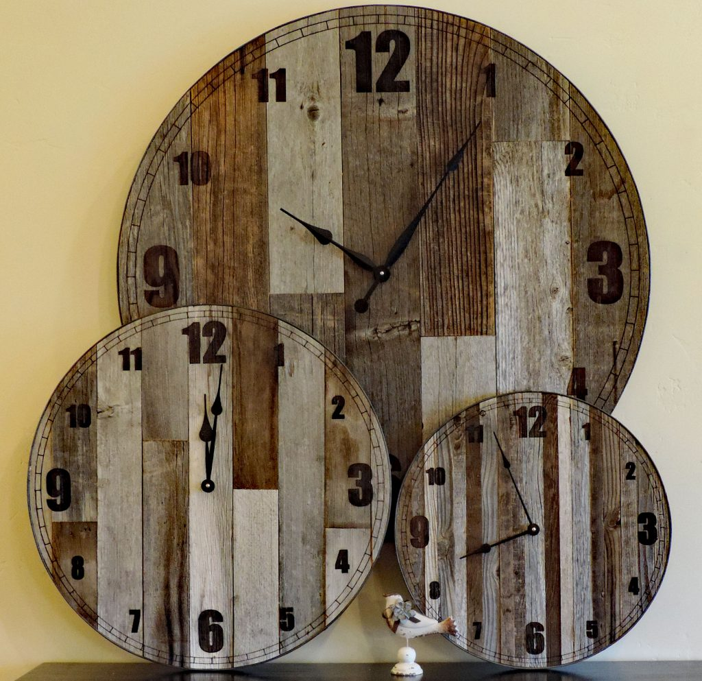 24 inch Large inMama Bearin Rustic Wall Clock  Big Barn