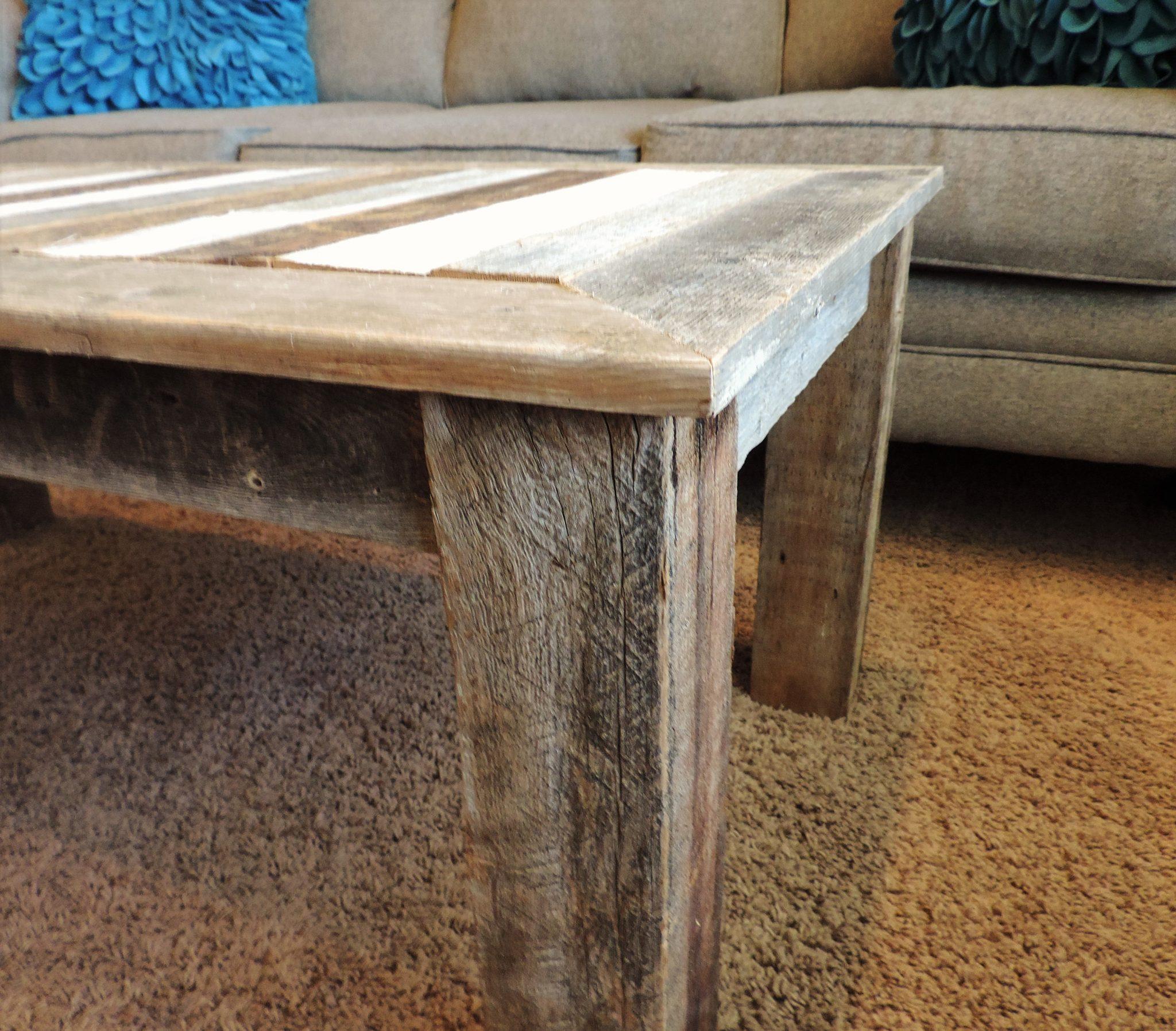 24 in x 48 in x 18 in bretton style reclaimed wood rustic barnwood coffee table allbarnwood