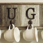 Barn Wood Mug Rack Wall Mount Cup Holder 4 Hooks Allbarnwood