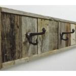 Rustic Wooden 3 Hook Bath Towel Holder Rack 28 5 In Wall Mounted Allbarnwood