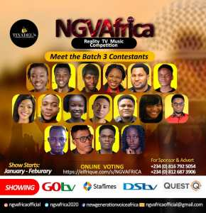 Ngvafrica Gospel Music Reality Show 2020