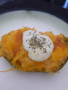 Buffalo Blue Cheese Stuffed Potatoes - yum!