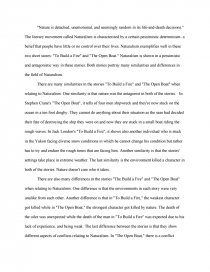 Compare Contrast Essays To Build A Fire The Open Boat Compare