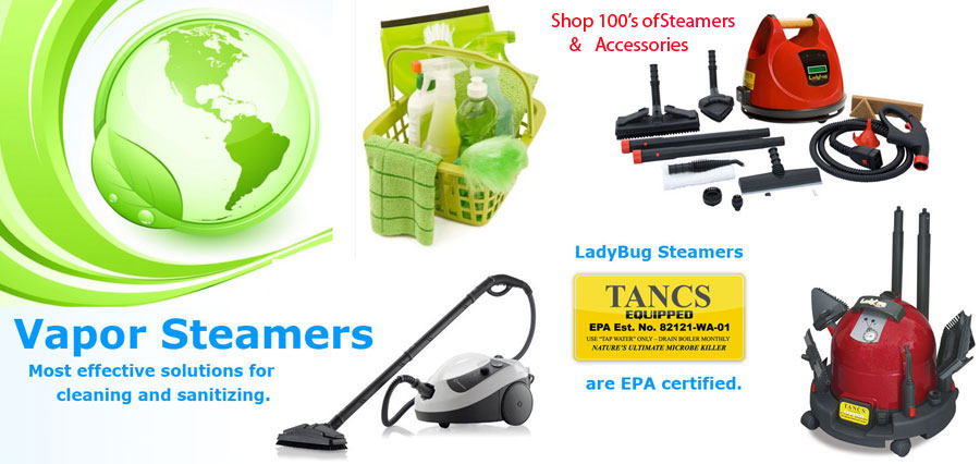 Steam Cleaners Commercial Upright Canister and Handhelds