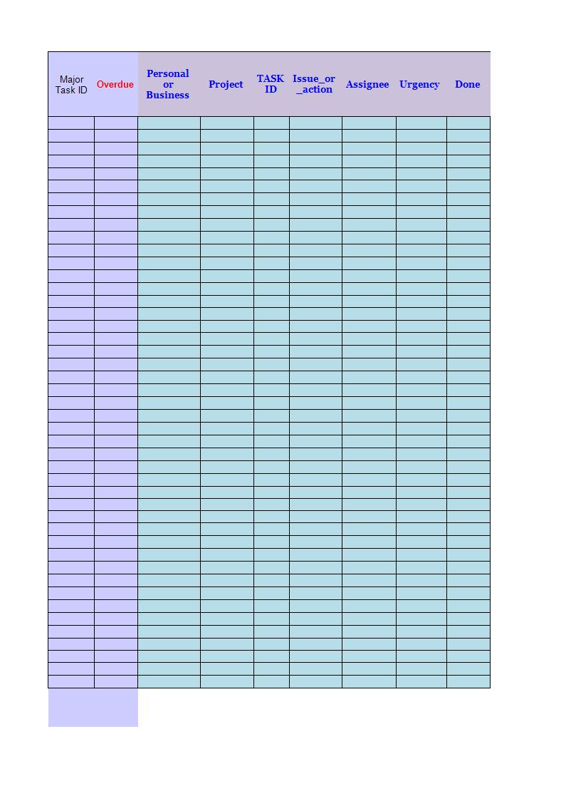 Checklist Template Worksheet