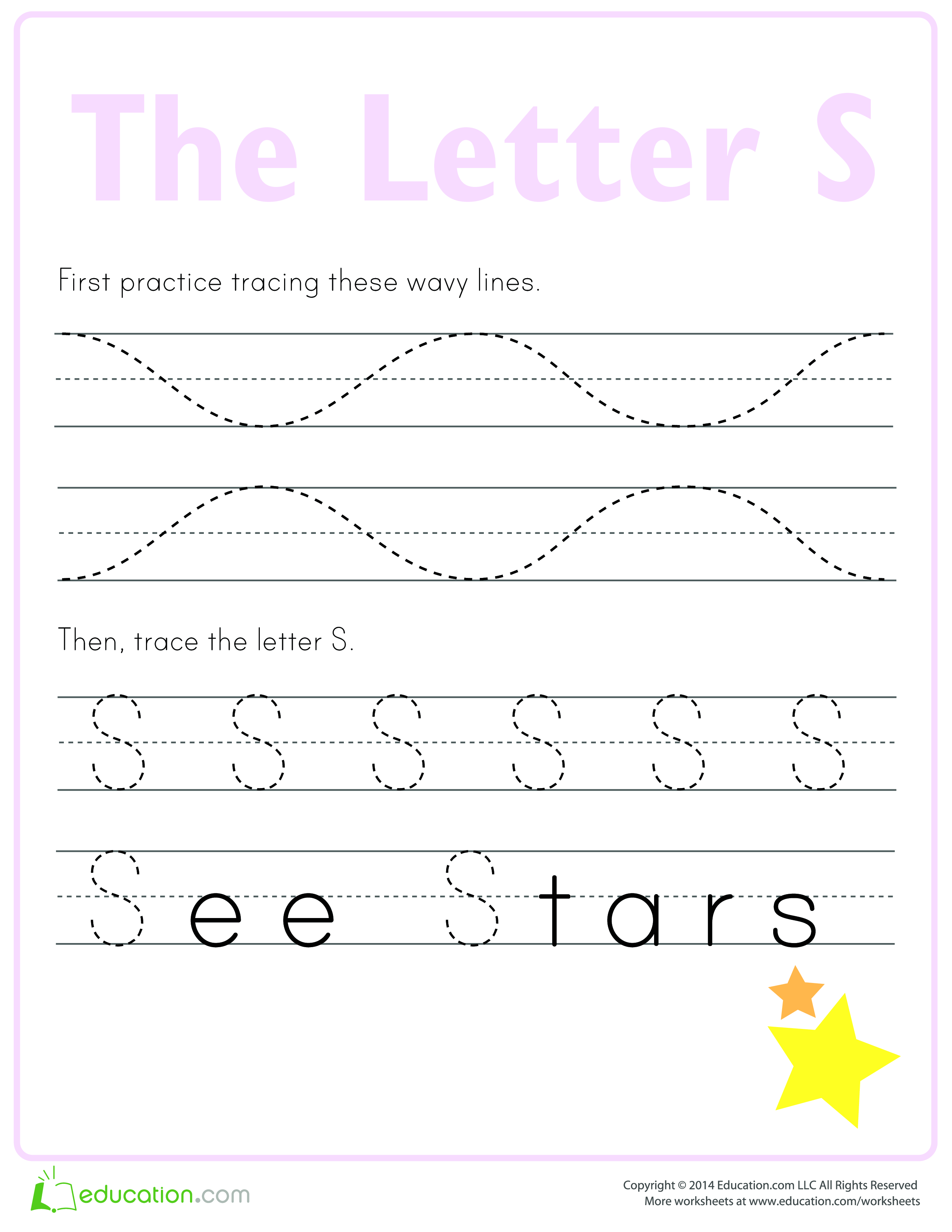 Learn To Write Letter S
