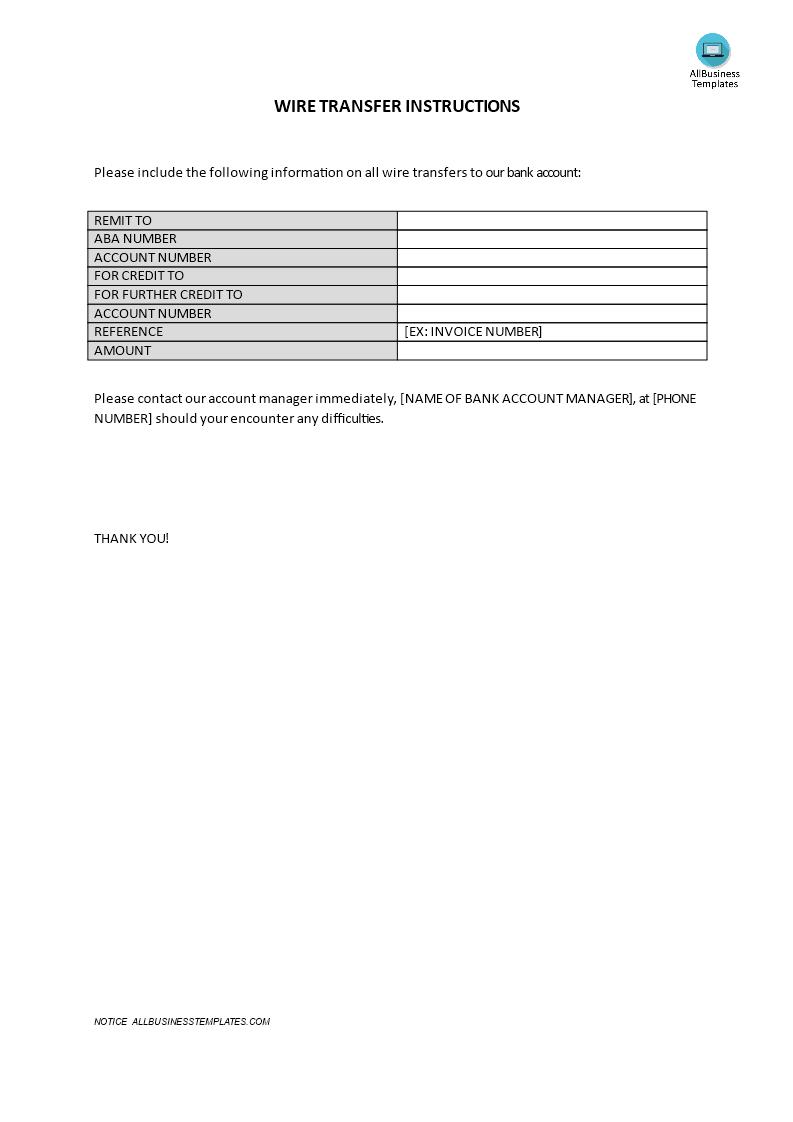 schwab wiring instructions form