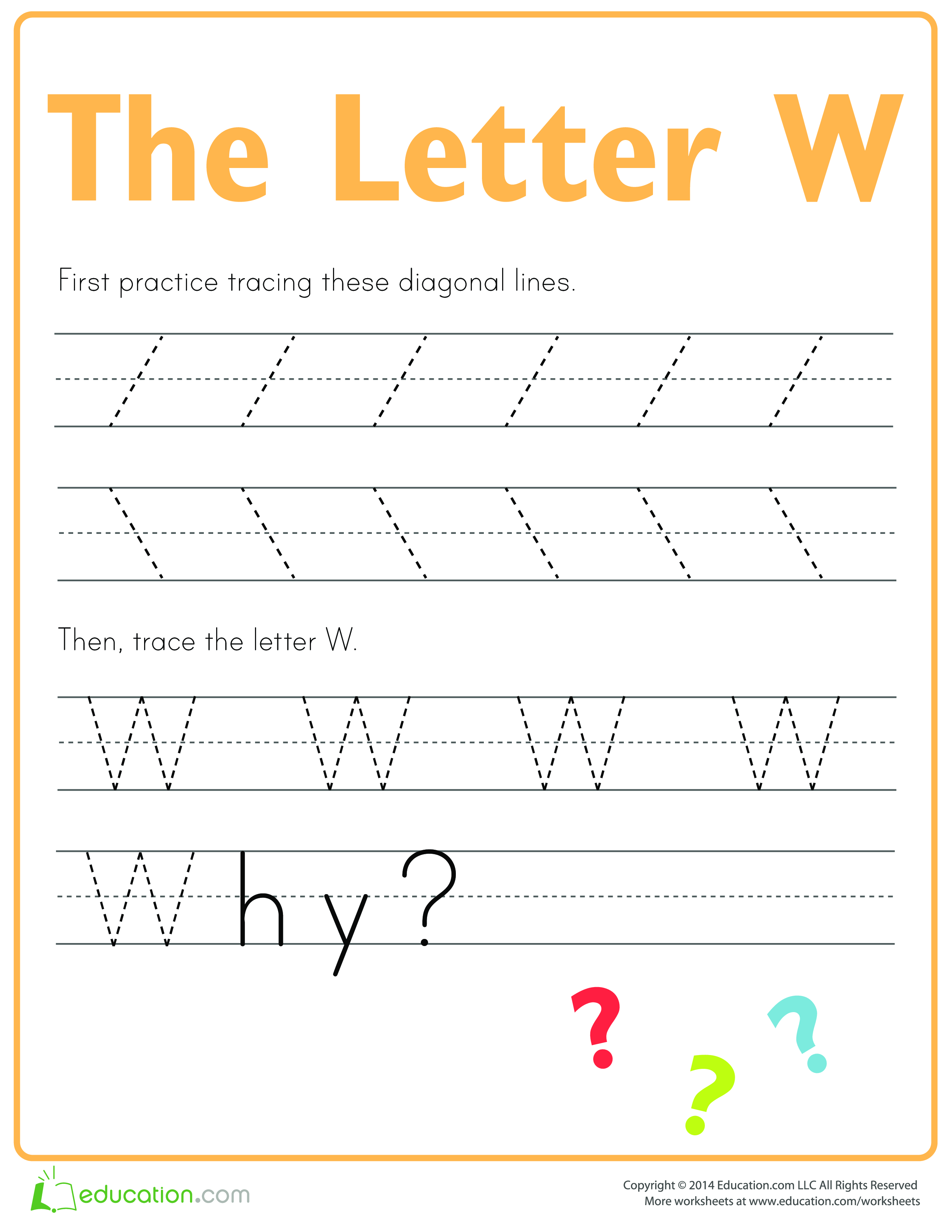 Learn To Write Letter W