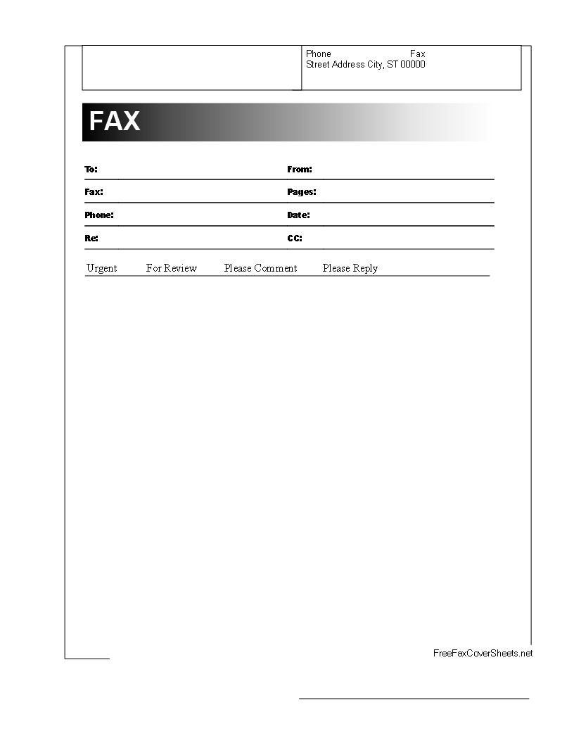 fax front page
