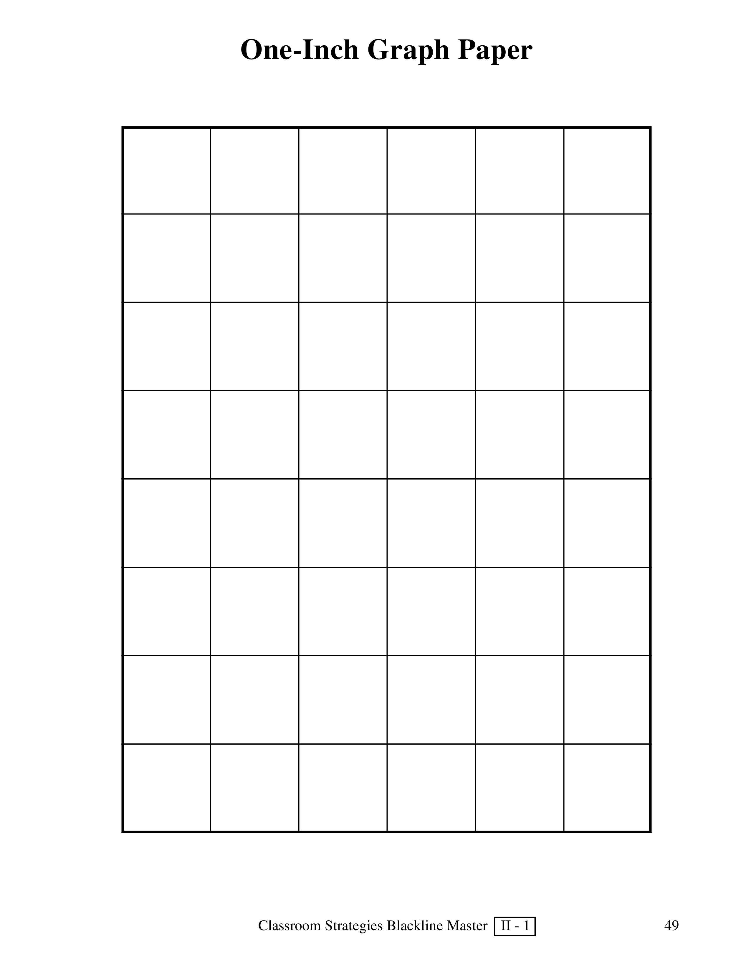 Large Graph Paper 1 Inch Squares