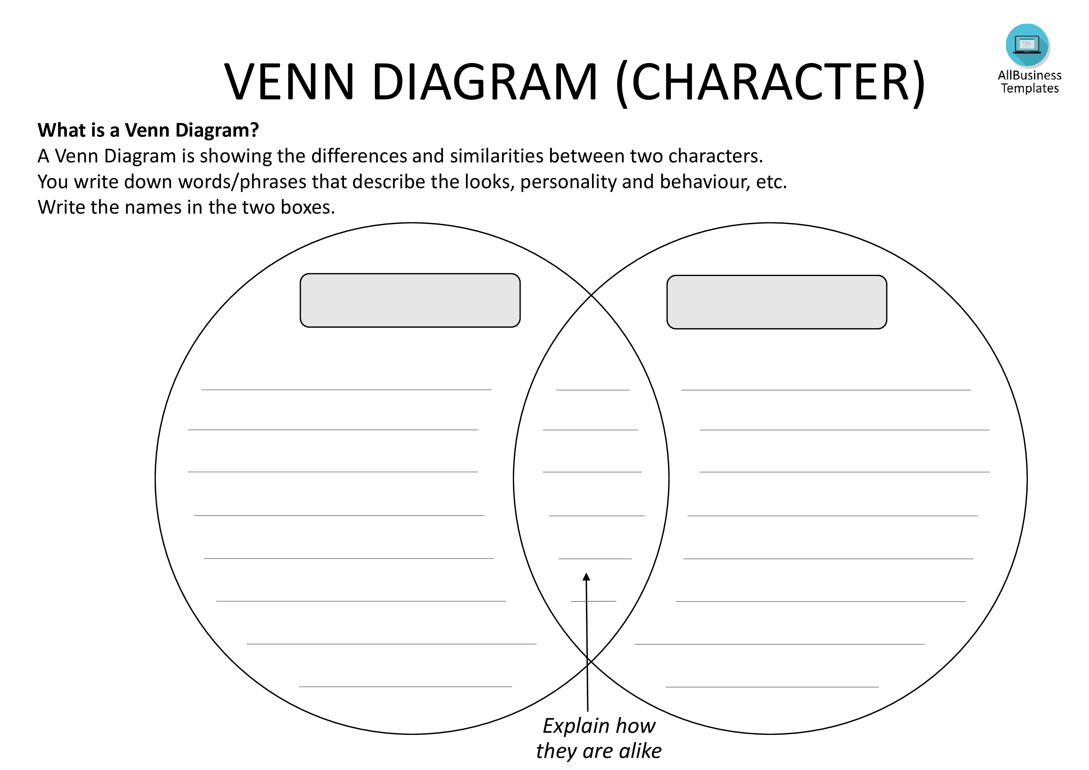 venn diagram template with lines ford explorer trailer wiring worksheet fun