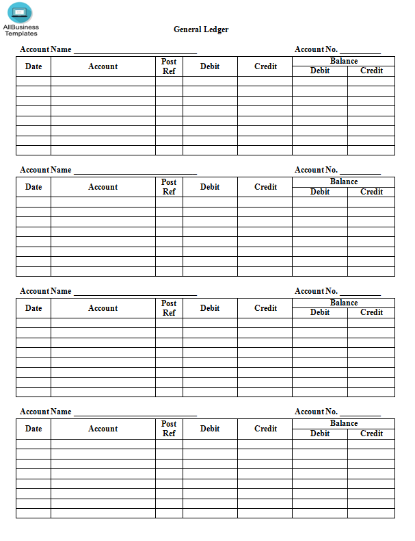 Accounting Ledger Paper Template.doc   Templates at allbusinesstemplates.com