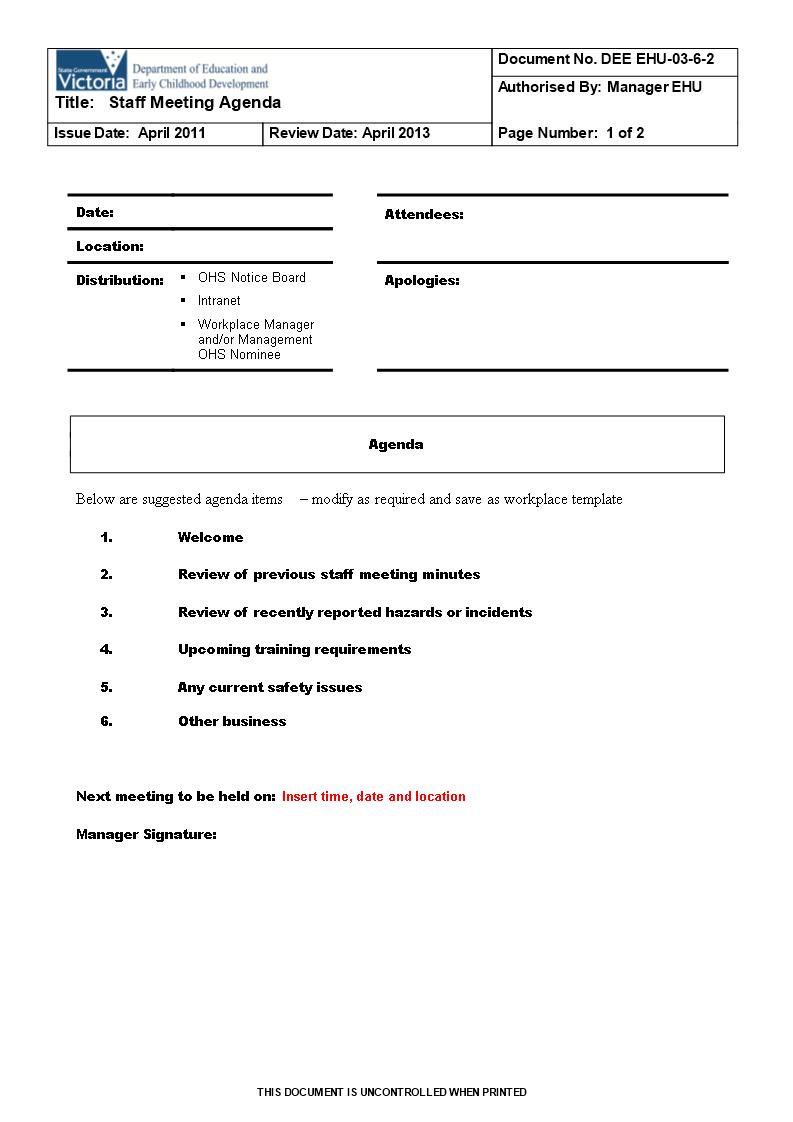 Team Meeting Agenda Outline Main Image