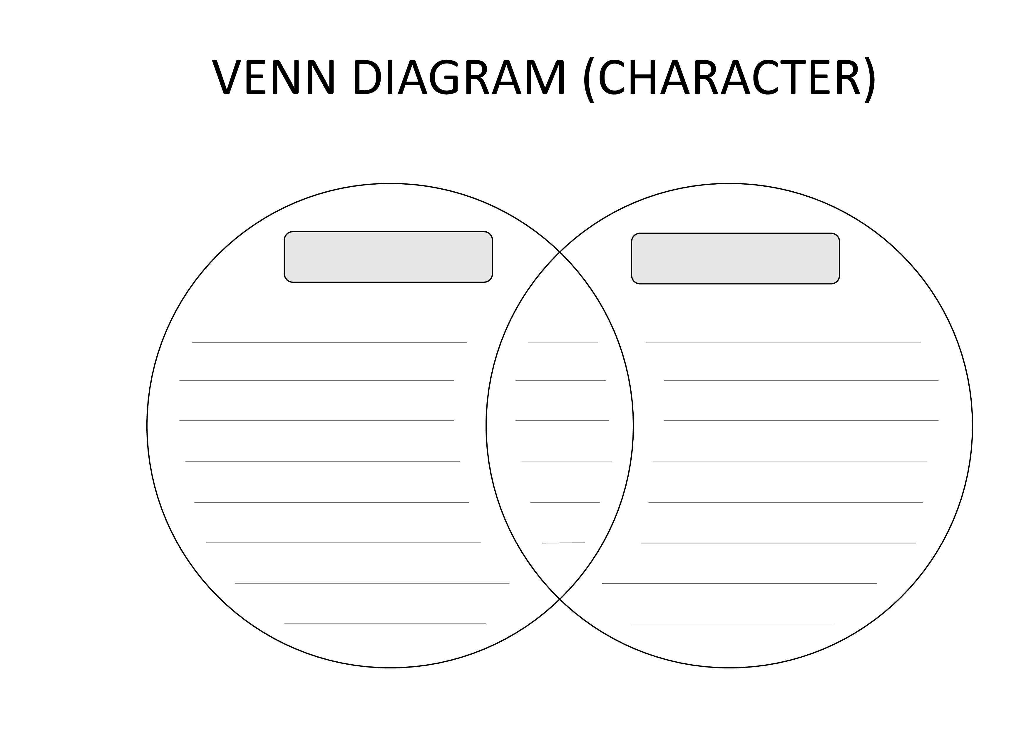 Free Venn Diagram Template With Lining