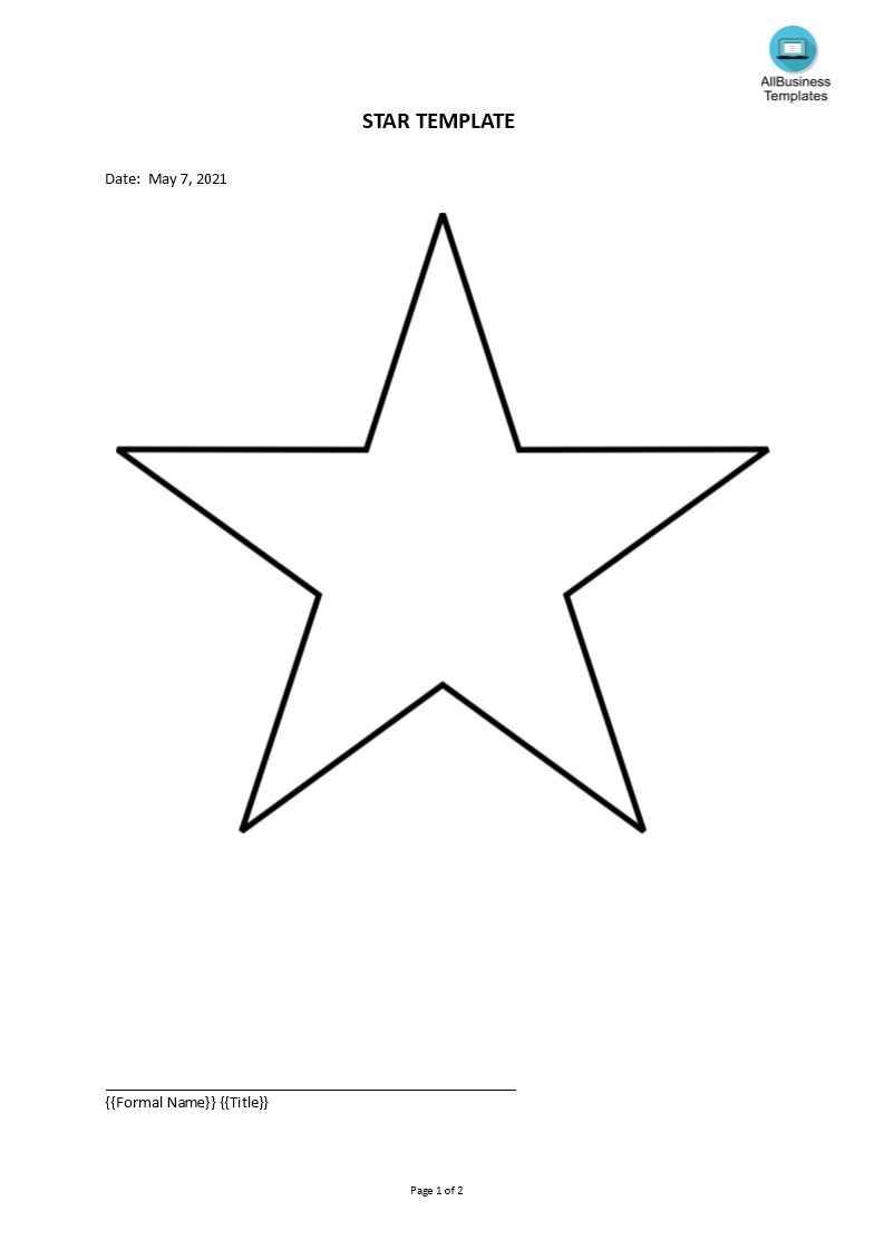 Simple Star Template