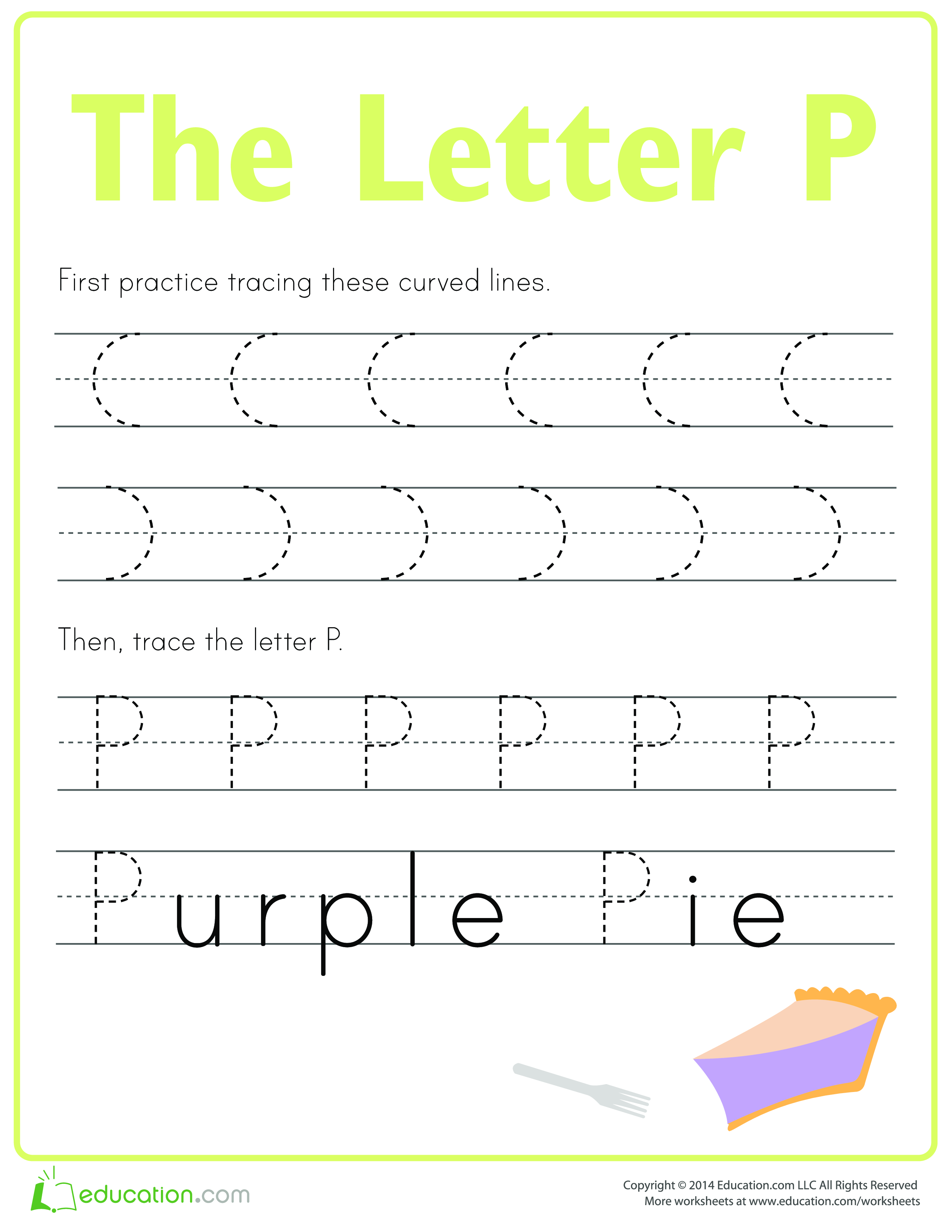 Learn To Write Letter P
