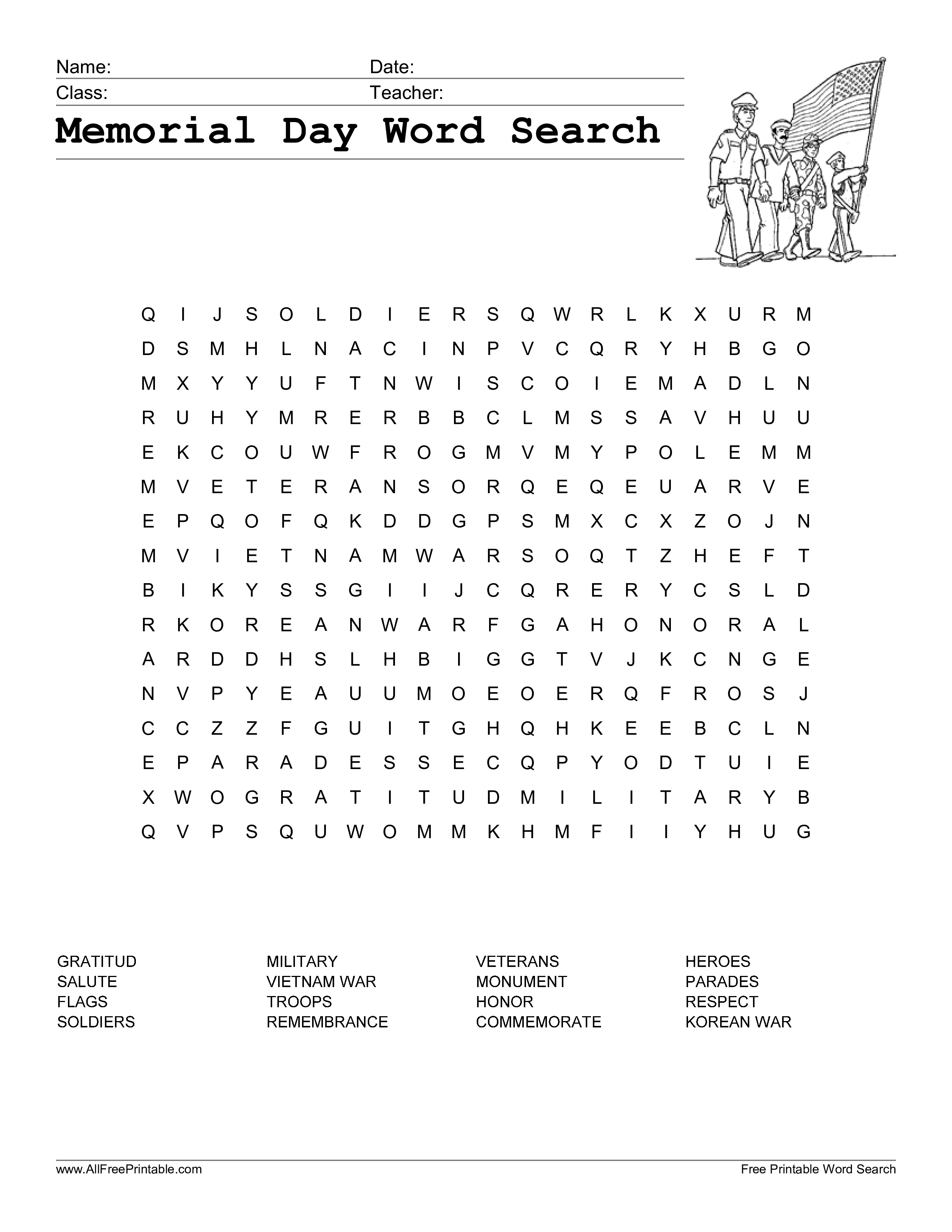 Word Search On Respect