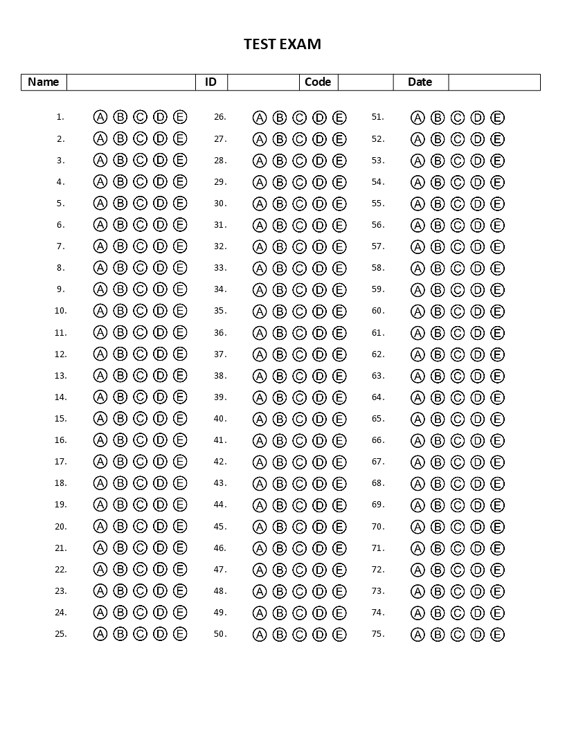 100 Multiple Choice Answer Sheet Pictures to Pin on