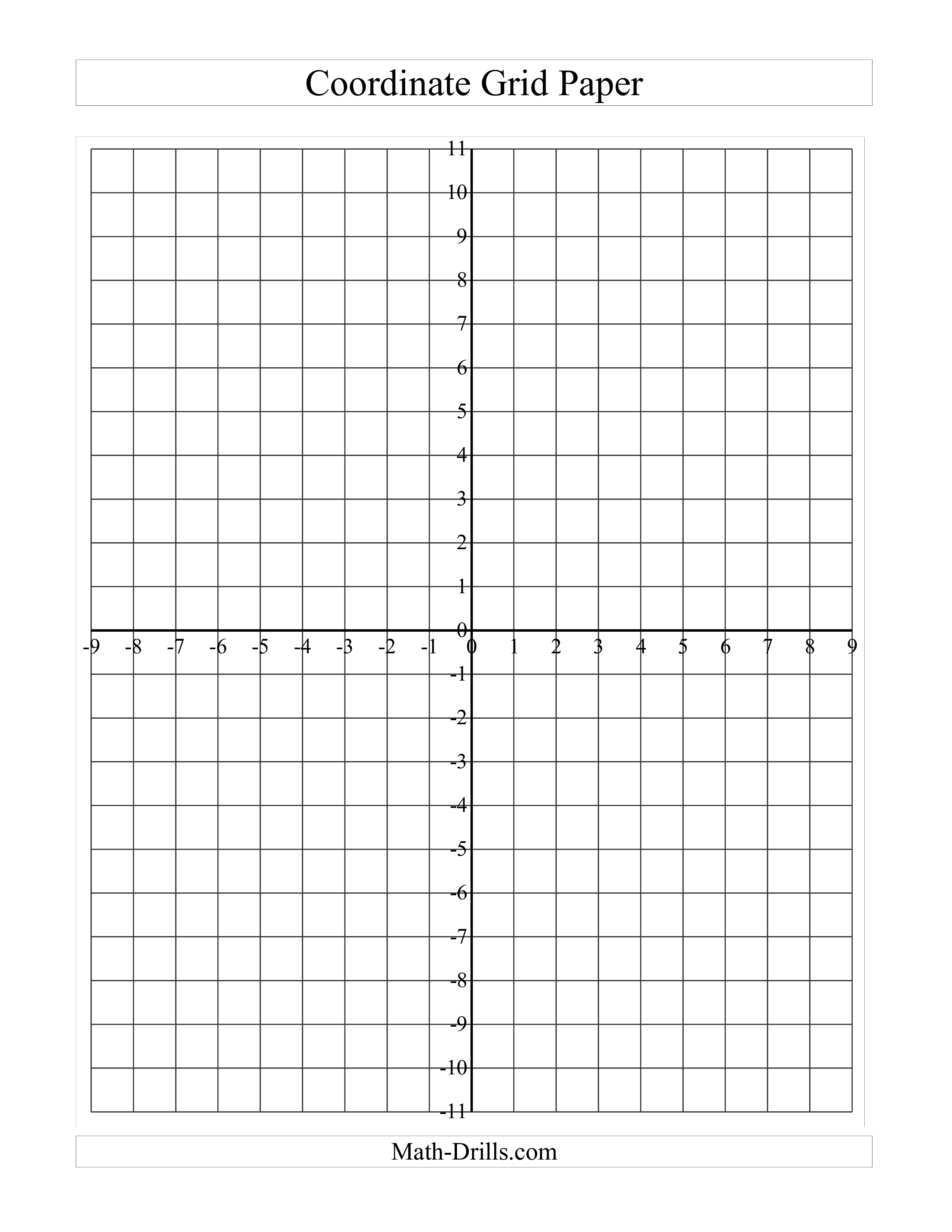 Printable Coordinate Grid Paper