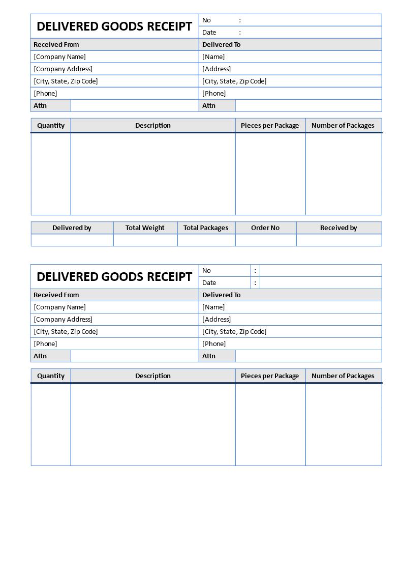 Goods Delivered Receipt | Templates at allbusinesstemplates.com
