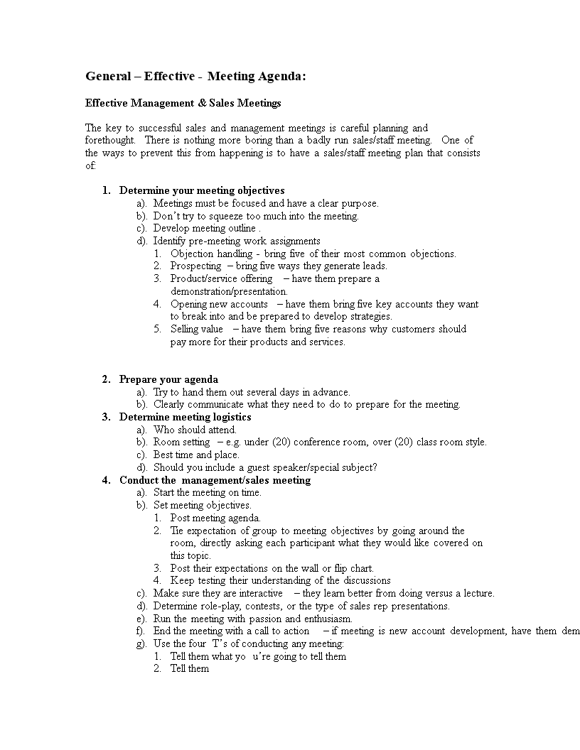 Sales Meeting Agenda Outline Main Image