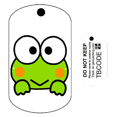 Freddy-the-Frog-Travel-Bug-For-Geocaching-Trackable-Tag-Unactivated-142456177422