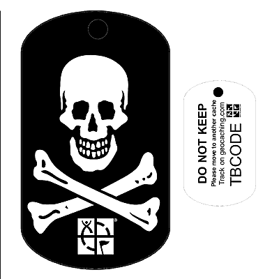 Jolly Roger Pirate Skull Crossbones Travel Bug For Geocaching Trackable Tag Allcachedup Geocaching Shop Uk