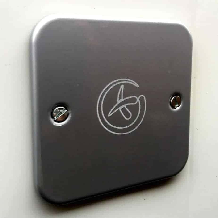 Magnetic Metal Wall Plate Geocache Sneaky Hide Logo