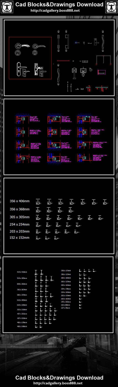 Hardware Blocks】Autocad Blocks & Drawings Download – Free Autocad