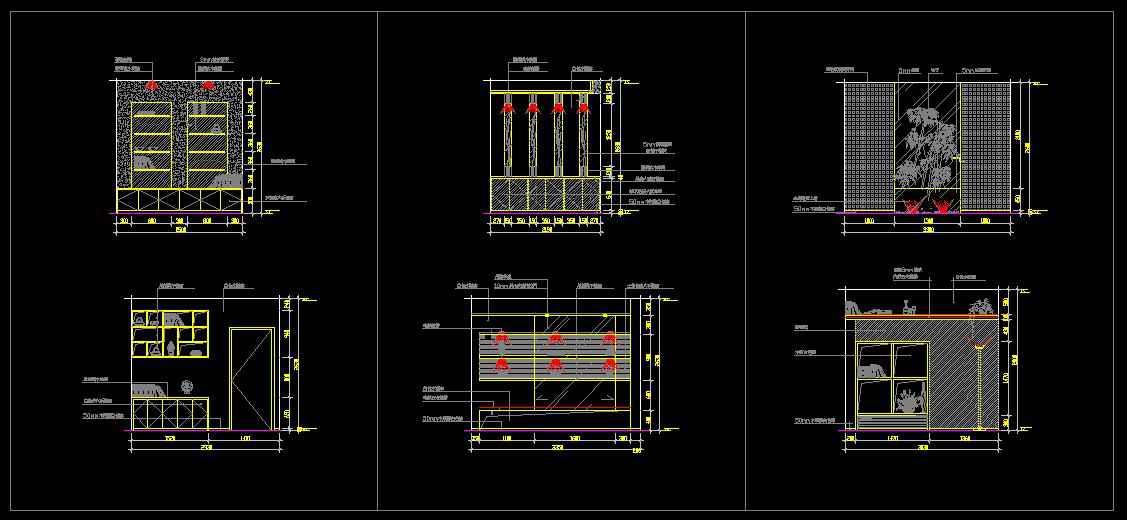 Study room design drawings v 1 free cad blocks for Cad room design free