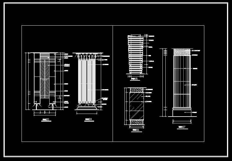 Column Design Drawing】★ Free Autocad Blocks Amp Drawings