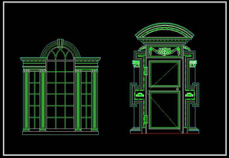 Architecture decoration drawing 1 free cad blocks for Online cad drawing